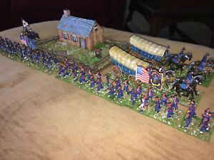 64 Painted 1/72 - Civil War Union Supply Wagons & 16th Michigan & 140th New York