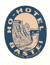 DDR Werbe Etikett HO - Hotel Bastei  ! (A3690