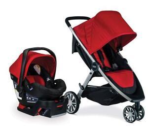 Britax B-Lively Stroller & B-Safe 35 Car Seat Travel System Cardinal New B-Agile