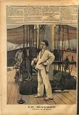 PEINTRE BRUN UNIFORME LE MOUSSE MARINE NATIONALE Cabin boy Mozzo 1891