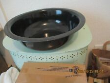 LARGE VINTAGE BLACK ENAMEL WASH BASIN ENAMEL WARE PAN,OR TIN PAN