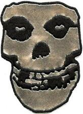 OFFICIAL LICENSED - MISFITS - SILVER SKULL SEW ON BACK PATCH METAL PUNK DANZIG