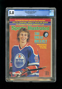 SPORTS ILLUSTRATED NEWSSTAND 1981 WAYNE GRETZKY CGC 5.0 FIRST ROOKIE COVER