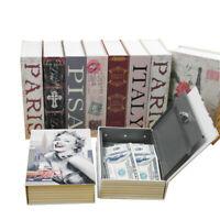 Secret Dictionary Book Safe Hidden Security Money Box Cash Jewellery Lock