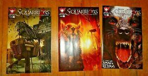 Squarriors Vol 02 Summer #1, 2 & 3 Devils Due Comics Comic Book 1st Printing NM
