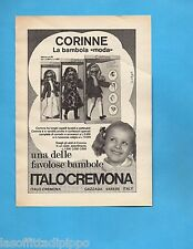TOP972-PUBBLICITA'/ADVERTISING-1972- ITALOCREMONA - BAMBOLA CORINNE