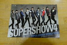SuperJunior - The 4th World Tour Super Show 4  Official POSTER* KPOP
