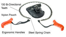 Survival Pocket Chain Saw, Portable Folding Hand Chainsaw Outdoor Gear Black