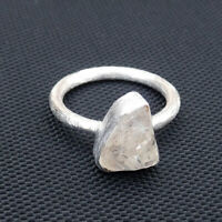 Herkimer Diamond 925 Sterling Silver Ring, Brush Finish Matte Finish Ring-EB6097