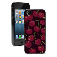 For Apple iPhone X XS Max XR SE 5 6 6s 7 8 Plus Hard Case Cover 180 Red Cherries
