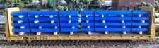 HO Scale 26' banded pipe load blue