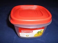 RUBBERMAID 2 CUP EASY FIND LID SQUARE FOOD STORAGE CONTAINER 1777085 NEW RED