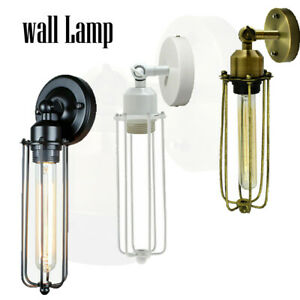 UK EDISON FLUSH MOUNT RETRO INDUSTRIAL LAMP HOLDER SCONCE ANTIQUE WALL LIGHT