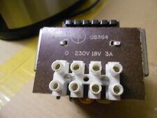 18v TRANSFORMER 230/240volt INPUT
