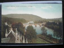 POSTCARD PERTHSHIRE RIVER TAY DUNKELD BRIDGE FROM CATHEDRAL TOWER