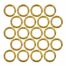 20 Piece 22k Gold Plated Open Jump Rings 7mm Diameter 18 Gauge Jewelry Beading
