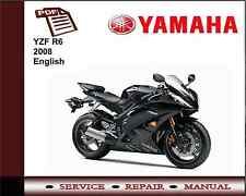 Yamaha YZF R6 YZFR6 2008 Workshop Service Repair Manual