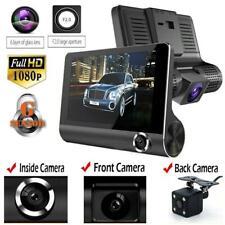 "4"" HD 1080P Dual Lens Rearview Car DVR Camera Video Recorder Dash Cam"