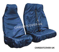 VW Transporter T5 (10-15) Blue HEAVY DUTY Waterproof VAN Seat COVERS 2+1