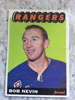 1965-66 TOPPS HOCKEY CARD #93 BOB NEVIN (NEW YORK RANGERS)