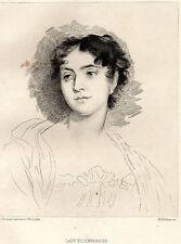 EAU FORTE 1860 / LADY ELLENBOROUG Sir Thomas Lawrence