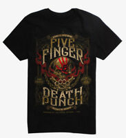 Five Finger Death Punch 5FDP 100% PURE CREST T-Shirt NEW Authentic & Official