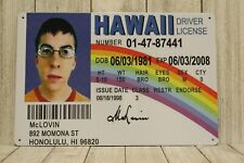 New listing New McLovin Superbad Driver License Tin Metal Poster Sign Bar Man Cave Fake ID