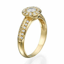 Filling Engagement Natural Yellow Gold Fine Rings