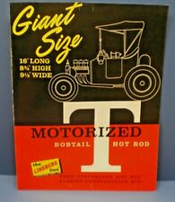 "LINDBERG 1965 "" GIANT SIZE BOBTAIL T "" double sided dealer sales flyer L@@K!"