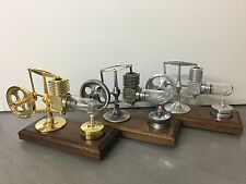 +++ Krick Stirlingmotor montiert Alu Altsilber Gold 22100 22101 22102