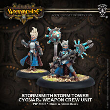 Warmachine: Cygnar Stormsmith Storm Tower Weapon Crew Unit PIP 31072 NEW