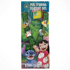 Disney Parks Lilo and Stitch Starter Set Trading Pins Lanyard