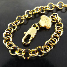 """NECKLACE CHAIN REAL 18 CT YELLOW G/F GOLD SOLID ANTIQUE BELCHER LINK DESIGN 22"""""""