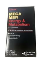GNC Mega Men Energy & Metabolism Multivitamins  90 ct exp:10/21