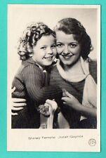 SHIRLEY TEMPLE & JANET GAYNOR # 1730 VINTAGE PHOTO PC. PUBLISHER LATVIA 895
