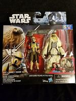 "STAR WARS Rogue One MOROFF & SCARIF Stormtrooper Squad Leader 2 Pack 3.75"" NEW"