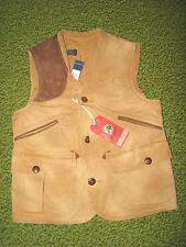 $295. Men's Tan Duck Canvas/ Leather Hunting Vest (S) POLO-RALPH LAUREN