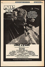 METEOR__Original 1978 Cannes Trade AD promo / poster__SEAN CONNERY__NATALIE WOOD