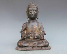 Bronze Amitabha Buddha Figurine Tibet old purple Bronze Sakyamuni Statue