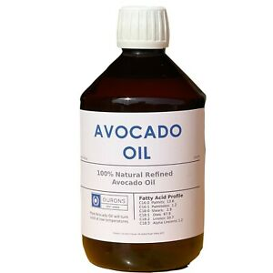 Avocado Oil 500ml Quality Natural Premium Oil from Ourons Ltd