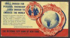 National City Bank of New York vintage advertisement blotter