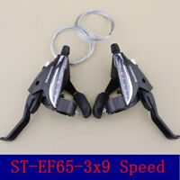 NEW SHIMANO ST-EF65-9 MTB Brake Levers & Shifter Levers Set 3 x 9 Speed