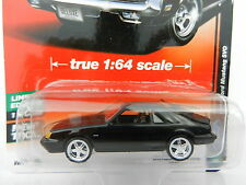 2017 AUTO WORLD 1:64 Deluxe 1B = BLACK 1985 Ford Mustang SVO *NIP*