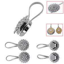 2 * Magnetic Crystal Curtain Tiebacks Tie Backs Buckle Clips Holdbacks Home