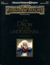 FOR2 DROW OF THE UNDERDARK EXC! #9326 TSR D&D Forgotten Realms Dungeons Dragons