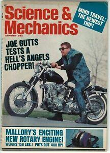 Science & Mechanics Magazine August 1967 Joe Gutts tests a Chopper Mind Travel