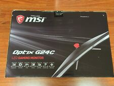 "MSI Optix G24C 24"" Full HD LED Curved Gaming Monitor 1ms 144hz FreeSync"