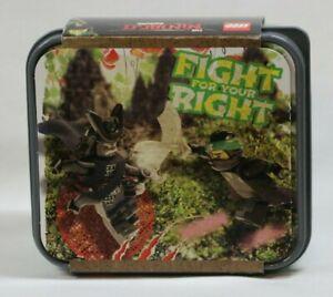 "LEGO Ninjago Lunchbox Food Storage Box ""Fight for your Right"" Ninja Movie 4050 +"