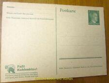 EBS Germany 1943 Postal Card 5 Pfennig Propaganda: Faßt Kohlenklau! P311/01
