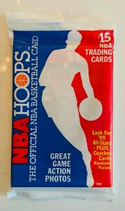 1989-90 Hoops Basketball Unopened Pack MJ MICHEAL JORDAN ON TOP! PIPPEN ROBINSON